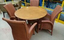 4 lloyd loom stoelen / fauteuils SM design model 8001