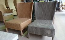 2 lloyd loom SM stoelen Jan de Bouvrie design